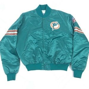 VGT 80s Starter NFL Miami Dolphins Satin Jacket